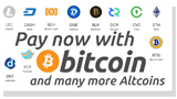 Pay Now with Bitcoin and Altcoins